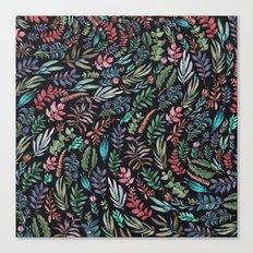 water color garden at nigth Canvas Print