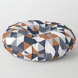 Navy Rust Geometry IV Floor Pillow