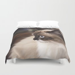 Chocolate Ragdoll Cat Duvet Cover