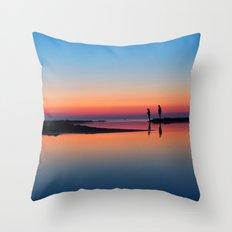 Pastels at Sunset Throw Pillow