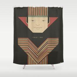 nola rae · walk & talk Shower Curtain