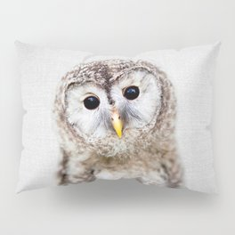 Baby Owl - Colorful Pillow Sham