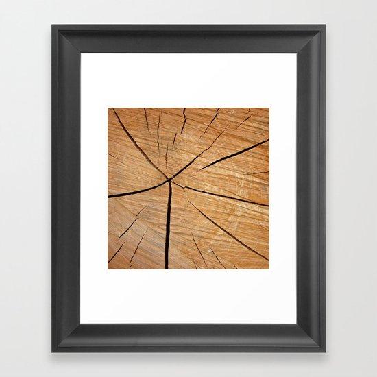 wood macro II Framed Art Print