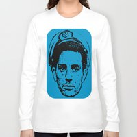 literature Long Sleeve T-shirts featuring Outlaws of Literature (Jack Kerouac) by Silvio Ledbetter