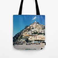 greece Tote Bags featuring Greece by maargopolo
