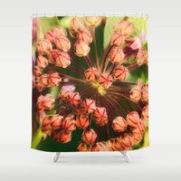 weed Shower Curtains featuring Milk Weed by Lisa Dream Wood