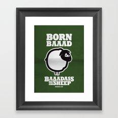 Baaadass the Sheep: Born Baaad Framed Art Print