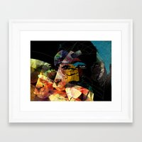 goat Framed Art Prints featuring goat by Alvaro Tapia Hidalgo