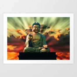 Buddha Sunrise Art Print