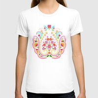 damask T-shirts featuring folk damask by bachullus