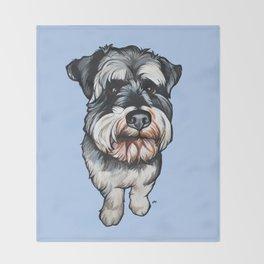 Barney the Miniature Schnauzer Throw Blanket