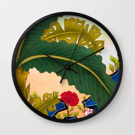 Minhwa: Plantain Garden in the Afternoon  Wall Clock