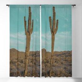 Saguaro // Desert Landscape Photography Arizona Teal Blue Sky National Park Cactus Vibes Blackout Curtain
