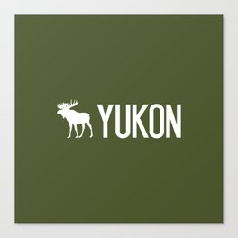 Yukon Moose Canvas Print