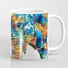 Colorful Elephant Art by Sharon Cummings Coffee Mug