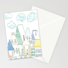 dreamy neighborhood Stationery Cards