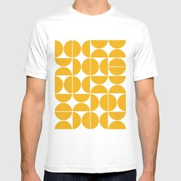 Mid Century Modern Geometric 04 Yellow T-shirt