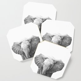 Black and White Baby Elephant Coaster