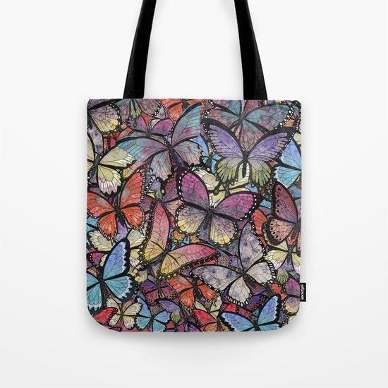 butterflies aflutter colorful version Tote Bag