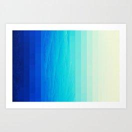 Blue Buffer Art Print
