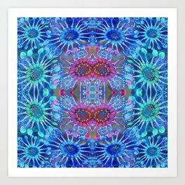 Passionflower Fractal Floral Art Print