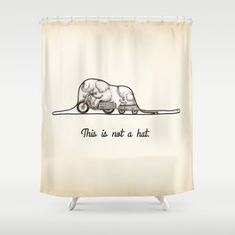 This is not a hat Shower Curtain