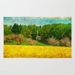 spring in upper Swabia Rug