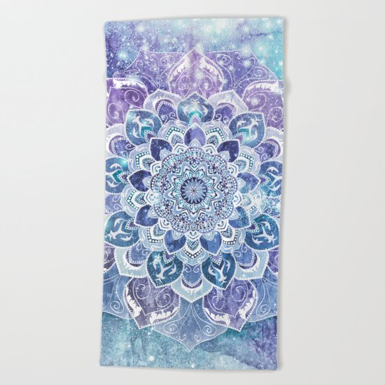 FREE YOUR MIND in Blue Beach Towel