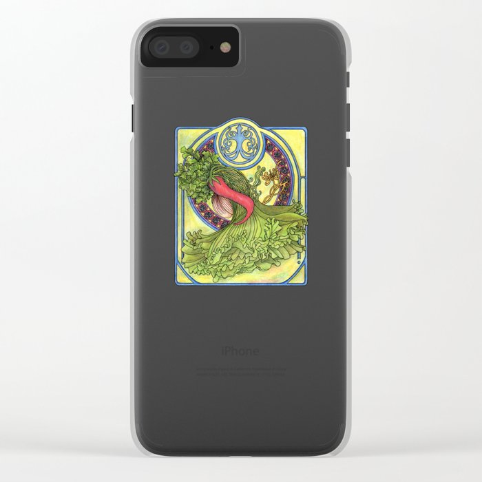 Art nouveau. Spices and vegetables Clear iPhone Case