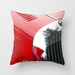 British classic red car Throw Pillow