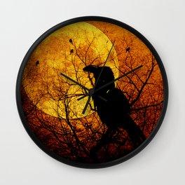 Harvest Moon Raven Wall Clock