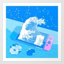 Reality Switch - Video Gaming Nostalgia Art Print