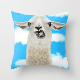 Derp Llama Throw Pillow
