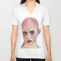 grimes V-neck T-shirts featuring SCREWSTON GRIMES by hipporacle
