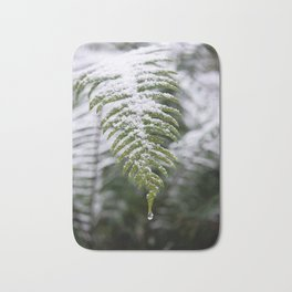 Fern Forest Winter Pacific Northwest Snow II - Nature Photography Bath Mat