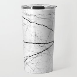 White marble abstract texture pattern Travel Mug
