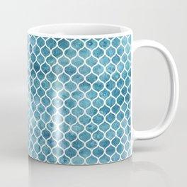 Sea-green Trellis Pattern Coffee Mug