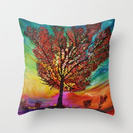 The Wow Tree Throw Pillow