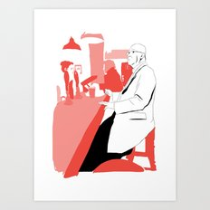 Having A BloodyPint Art Print