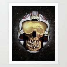 ...WAS     (Skull series 3 of 3) Art Print