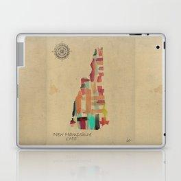 new hampshire state map Laptop & iPad Skin