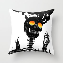 One with the Universe (Existential Diffusion) Throw Pillow