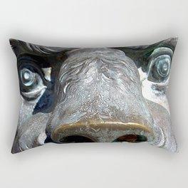 The Bronze Lion Rectangular Pillow