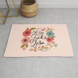 Pretty Swe*ry: Oh For F's Sake Rug