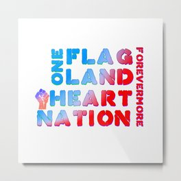 4th of July Quote Metal Print
