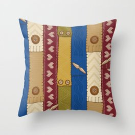 Scarves Knitted Buttoned Throw Pillow
