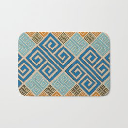 Meander Pattern - Greek Key Ornament #7 Bath Mat