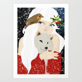 She is the reason for Winter Art Print