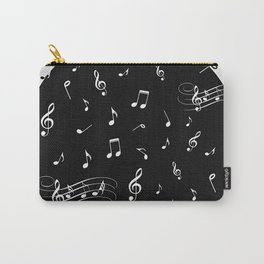 Music White and Black Carry-All Pouch