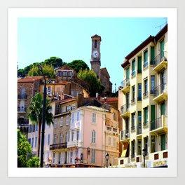 Lovely Le Suquet Cannes Art Print